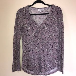 Large William Rast Quilted V Neck Long Sleeve